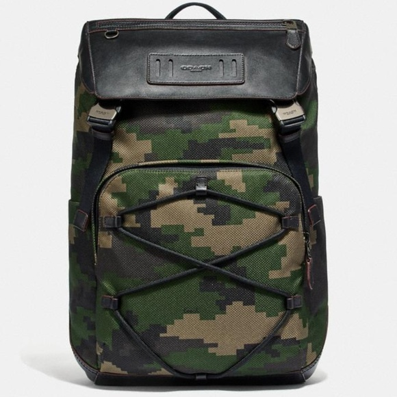 eaee13a80f85 NWT Coach Terrain Backpack W/ Pixelated Camo Print